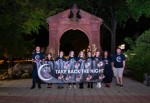 Students stand against sexual violence and Take Back the Night
