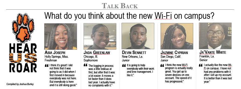 Talk Back: What do you think about the new Wi-Fi on campus?