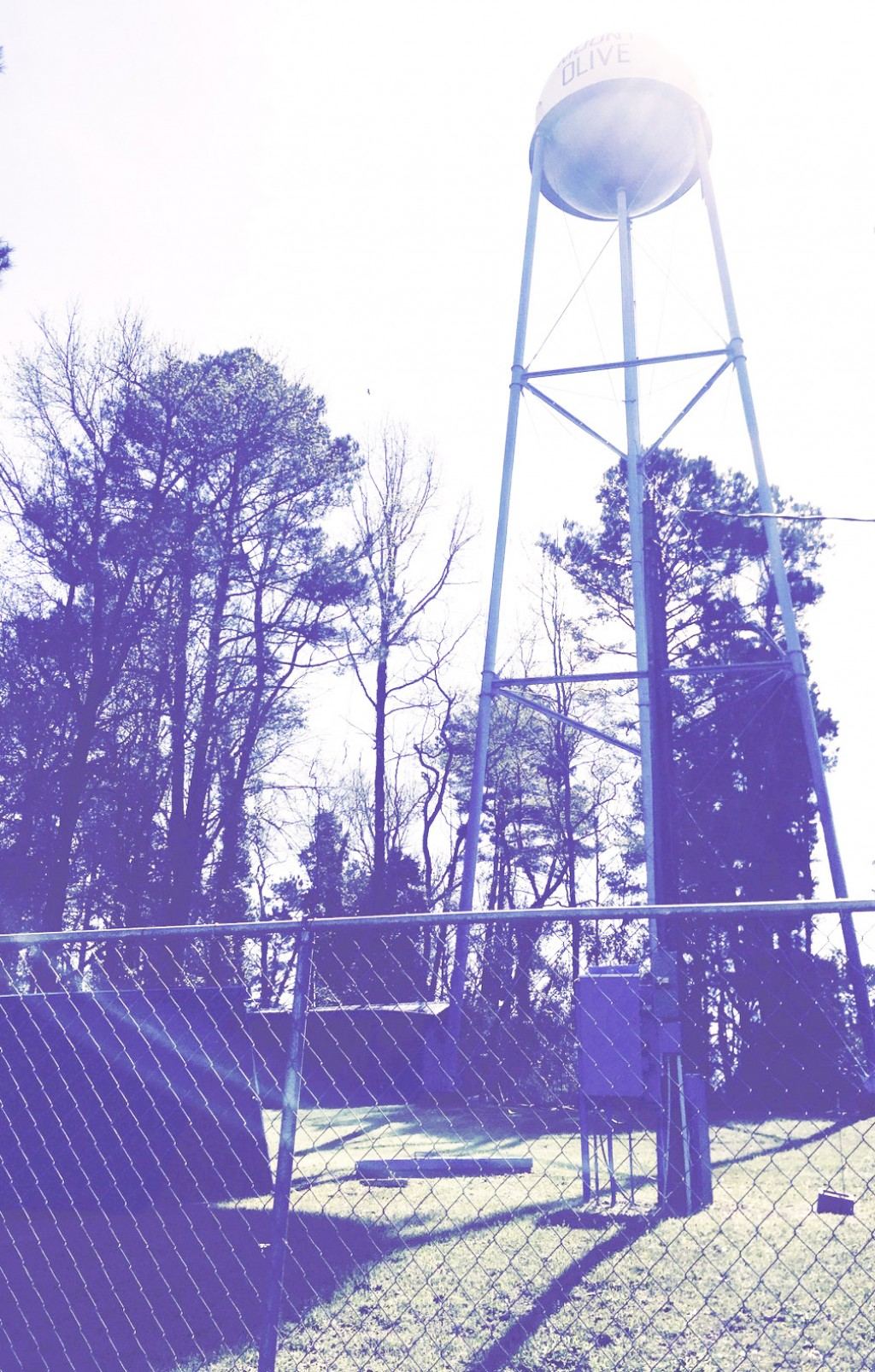Mt. Olive community water tower stands 130 feet high. The John Frazier drone makes it easier to check for leaks and other touble.