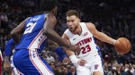 Griffin puts on show as Pistons down the 76ers