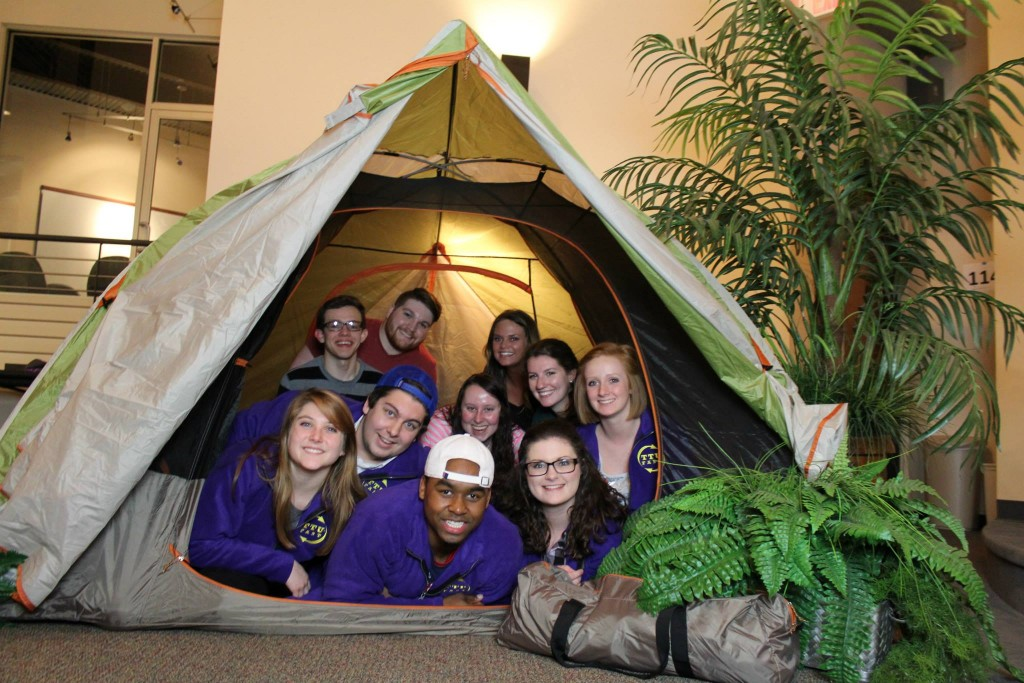 Members of F.A.S.T. show off the Kelty tent recently given away as part of the Centennial Poster voting c&aign.  sc 1 st  Tennessee Tech (tntechoracle) & F.A.S.T. contest offers Bonnaroo tickets | tntechoracle
