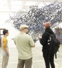 Students attend Grimes' exhibit in Contemporary Art Gallery