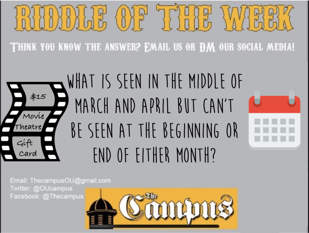 2/21/2020 RIDDLE OF THE WEEK