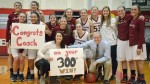 Women's basketball coach reaches 300 wins