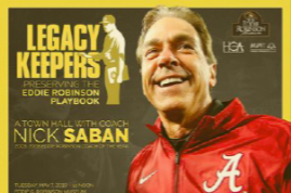 Saban to speak at Robinson Museum