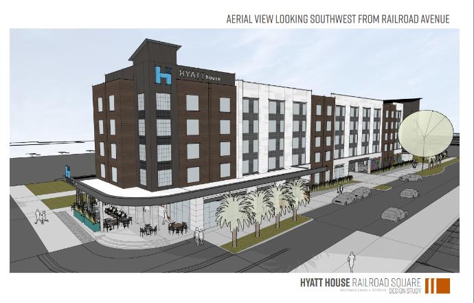 Railroad Square Art Park prepares for new Hyatt House Hotel