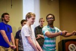 Students build artistic skills through improv comedy