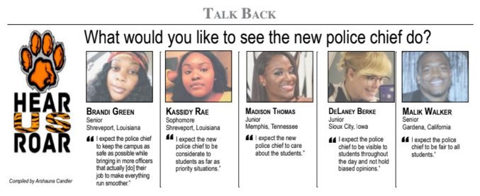 Talk Back: What would you like to see the new police cheif do?