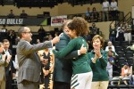 Ferreira returns on senior night as Bulls scare Huskies