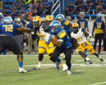 Football falls to Commerce in second half