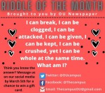 FEBRUARY RIDDLE OF THE MONTH