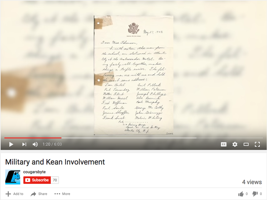Military and Kean Involvement.