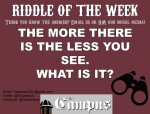 11/8/19 RIDDLE OF THE WEEK