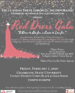 Delta Sigma Theta to host Red Dress Gala