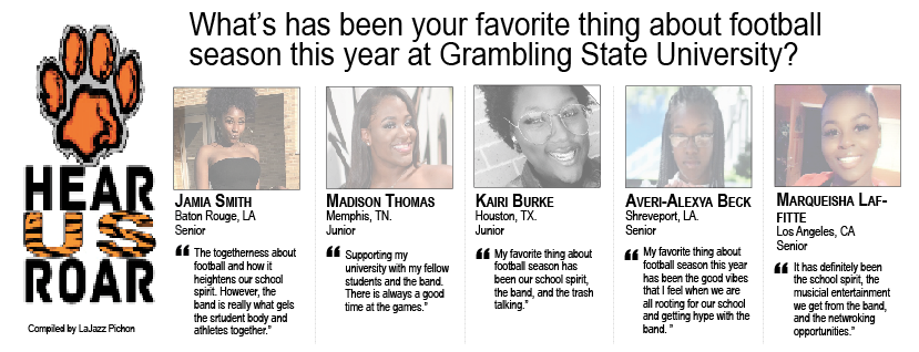 Talk Back: What's has been your favorite thing about football season this year at Grambling State University?