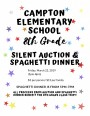 Campton Elementary School 8th Grade Silent Auction & Spaghetti Dinner