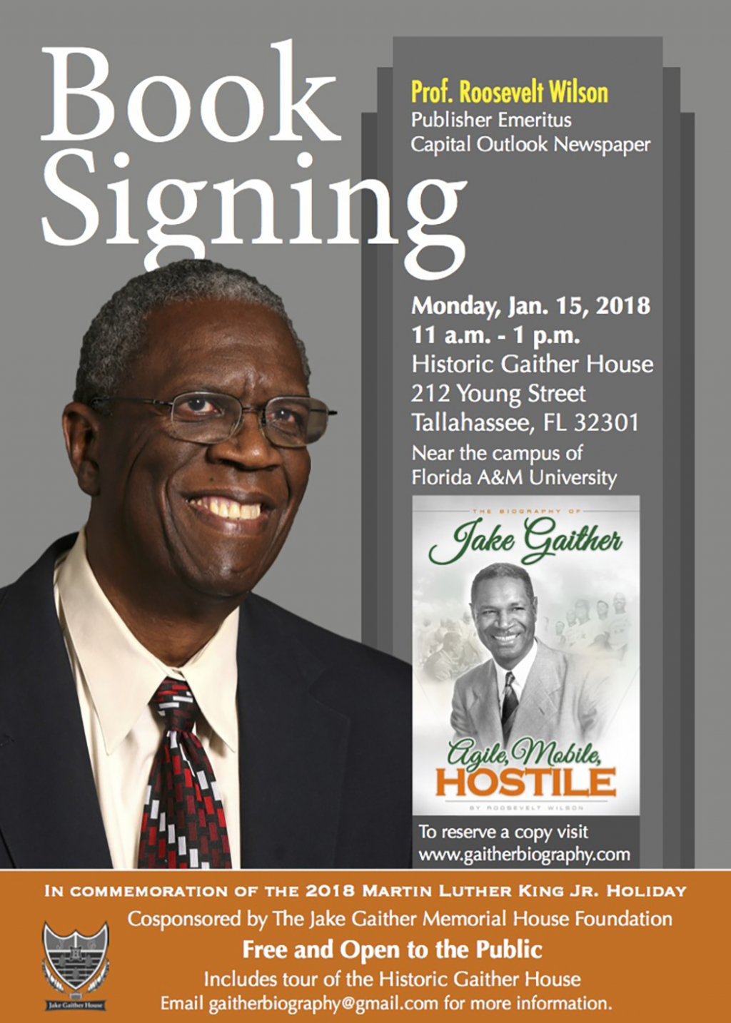 Book signing honoring Jake Gaither in celebration of MLK Day