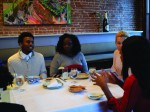 Students practice etiquette skills at dinners