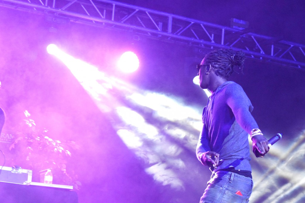 DEONTE SATCHER/Courtesy Photo Rapper Young Thug prepares to dance as his DJ drops the beat to crowd favorite, Hercules.