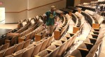APO cleaned the Vonnie Borden before the doors open for a new university production