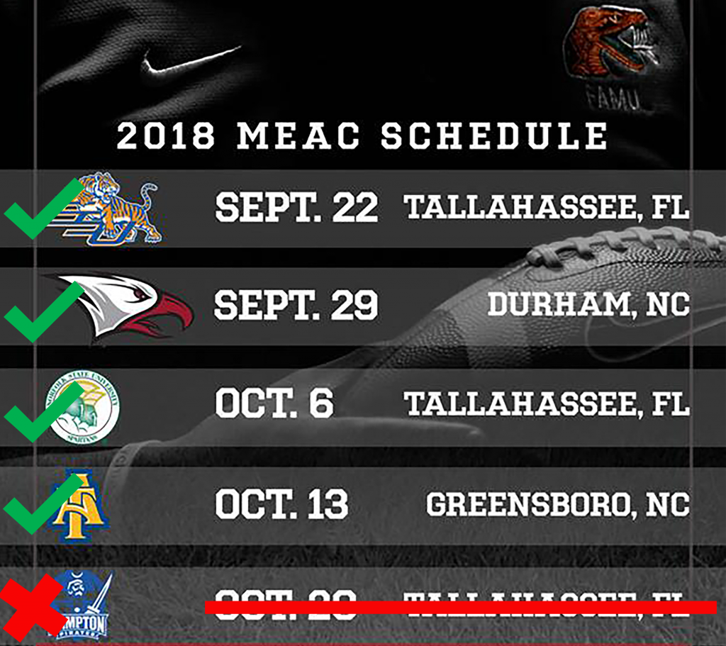 Hampton's departure causes change in FAMU's MEAC schedule