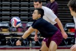 Men's volleyball falls to rival SVU at tri-match