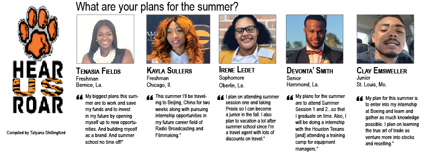 Talk Back: What are your plans for the summer?