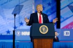 Trump alludes to future re-election in CPAC speech