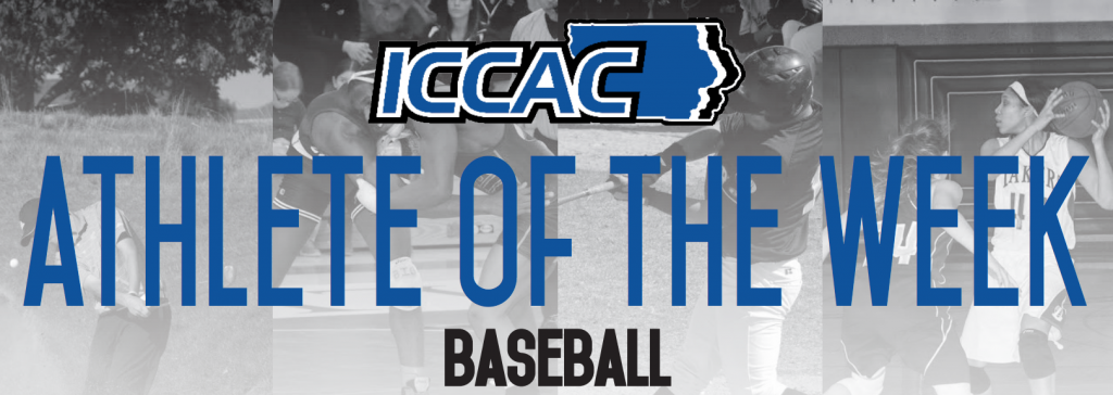 Pitcher Nick Drahozal wins ICCAC Athlete of the Week