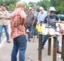 Forge welders get their hands dirty