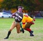 Leatherheads take over president's lawn