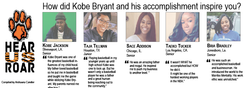 Talk Back: How did Kobe Bryant and his accomplishment inspire you?