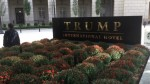 Trump Hotel Vandalized with Black Lives Matter Message