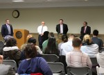 Potential food service providers hear from students