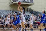 Women's basketball secures first NJAC win