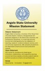 Angelo State University Mission Statement