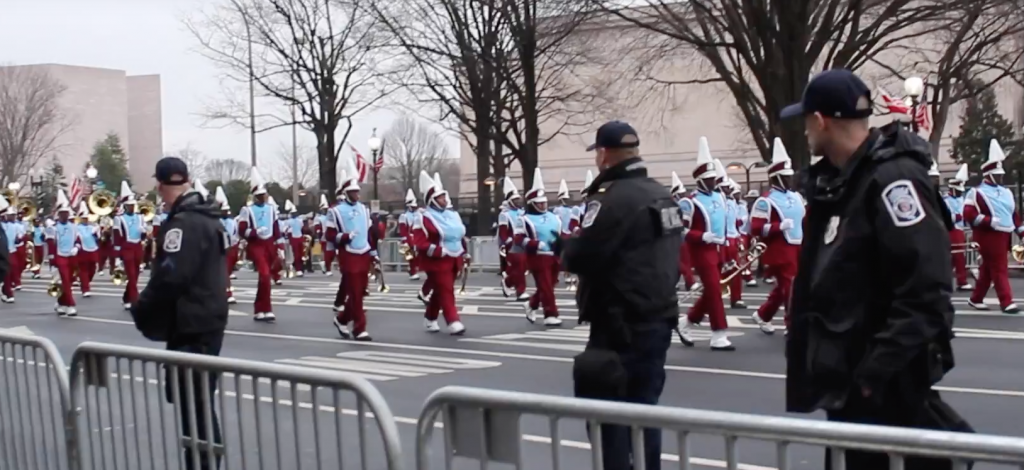 Talladega College criticized harshly for the band's participation in the inaugural parade,