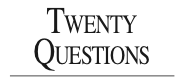 Twenty Questions: Jan 15