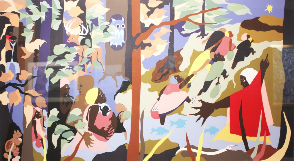 """Courtesy photo The works of numerous artists are included in the """"Acts of Faith"""" art exhibition. The """"Forward Together"""" painting is by Jacob Lawrence."""