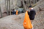 Brockport students clean up historical park