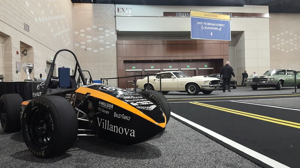 Villanova students showcase 2015 competition car at Philadelphia Auto Show