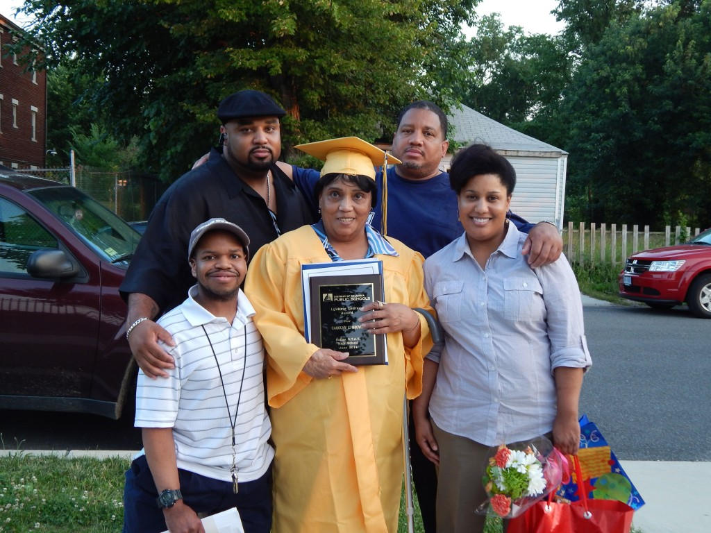 Carolyn Brown and family