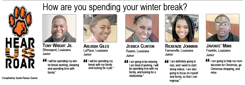 Talk Back: How are you spending your winter break?