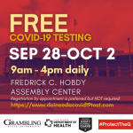 Free COVID-19 testing available at Hobdy Assembly Center