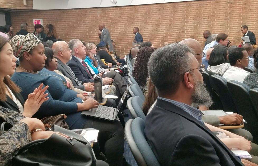 President Frederick addresses Howard Faculty