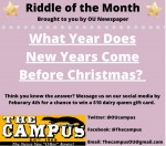 JANUARY RIDDLE OF THE MONTH