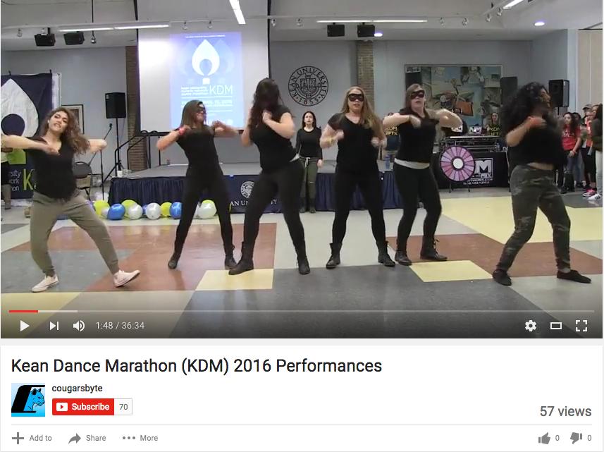 Kean Dance Marathon (KDM) 2016 Performances