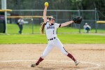 Women's softball shuts out colleges in double header