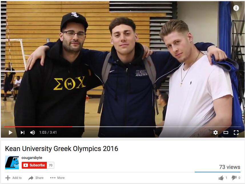 Kean University Greek Olympics.
