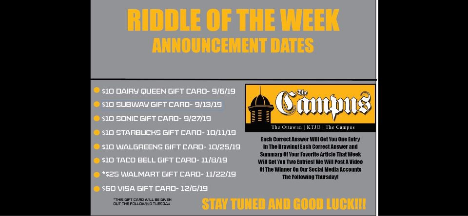 RIDDLE DAYS! | oucampus